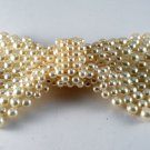Gorgeous Vintage Faux Pearl Bow Tie Hoop For Attaching Jewelry Making
