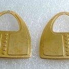 Vintage Purse Pocket Book Raw Brass Stamping Pair 46x30mm