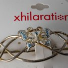 Xhilaration 2001 Hair Clip Barrette Butterfly Rhinestones Tarnished NOC