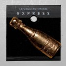 Vintage Express Gold Plated Champagne Bottle Broach