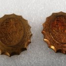Vintage STamping Pair Victorian Style Reverse Scallop FLower Vine
