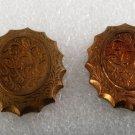 Vintage STamping Pair Victorian Style Reverse Scallop FLower Vine