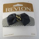 Revlon Fashion Barrette  Black and White with Bow 1997 Hair Accessorie
