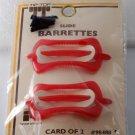 Vintage Tip Top Hair Slide Barrette Pair Red NOC Made in Hong Kong