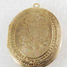 Vintage Gold Plated Decorative Metal Locket  made in Hong Kong 63mm x 44mm