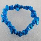 Gorgeous Blue Dyed Howlite Gem Stretchy Elastic Bracelet Jewelry