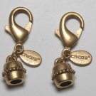 Vintage Gold Plated Chico's Lobster Claw Clasps Pair