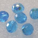 Vintage Blue Glass Faceted Heliotrope Bead Finding 6