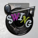VINTAGE COLLECTIBLE MUSICAL SWING RECORD PIN JEWELRY