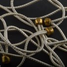 Vintage Elastic No Pull Lot of 12 Brass Ball End White Gold Band Hair Accessory