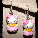 Pink Hat HELLO KITTY Earrings