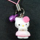 Hello Kitty Cell Phone MP3 Charm -Pink Rose