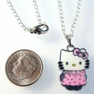 HELLO KITTY Silver Tone Pendant Necklace - Pink Dress
