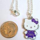 HELLO KITTY Silver Tone Pendant Necklace - Purple Star