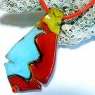 Art Lampwork Glass Pendant Necklace