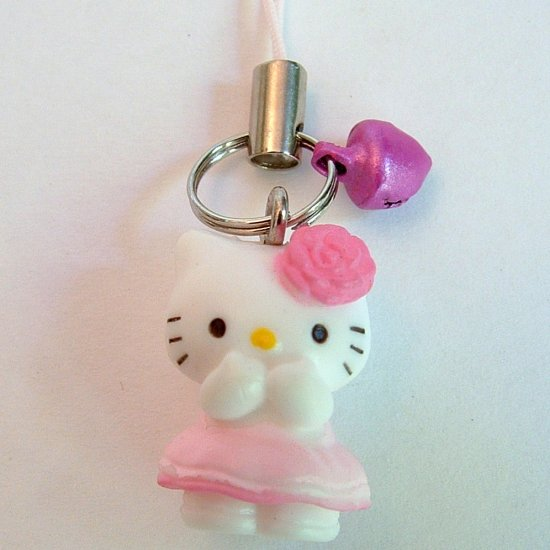 Pink Rose Hello Kitty Cell Phone MP3 Charm
