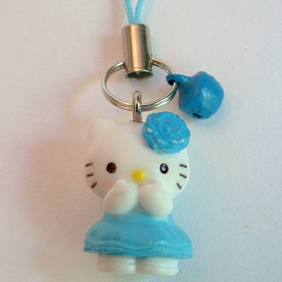 Blue Rose Hello Kitty Cell Phone MP3 Charm