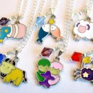 Handmade Zodiac Astrological Sign Enamel Charm Crystal Necklace -Choose Sign