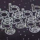Black T-Shirt Premium 6.1 Magnum Wt. Adult-Unisex with Metallic Silver Letter Pattern