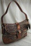 Fabric Handbag with Front Latch & Star + Heart Dangle