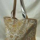 Tote Handbag with Silver Front Letters