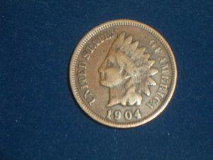 1904 Indian head cent penny