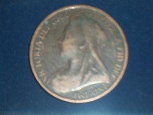 1900 British Penny Victoria