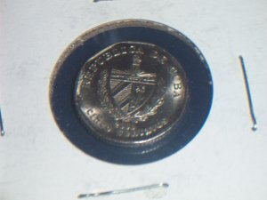 2000 Cuban five cent Au+
