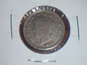 1907 US V nickel 5 five cents