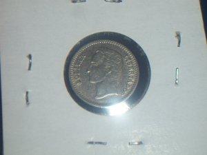 1965 25 centimos Venezuela