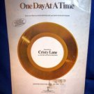 VINTAGE SHEET MUSIC -ONE DAY AT A TIME, PIANO OR GUITAR