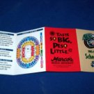 HOUSTON AEROS HOCKEY 1995-1996 POCKET GAME SCHEDULE