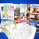LOT OF 14 CRAFT MAGAZINES-SEWING,CROCHET, DOLL PATTERNS