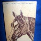 WOODEN POSTCARD, HORSE HEAD, PARIS, KENTUCKY