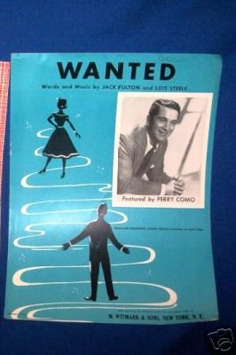 SHEET MUSIC - WANTED,PIANO,HAMMOND ORGAN,UKULELE,BANJO