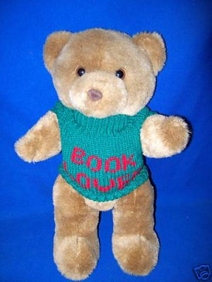 STUFFED TEDDY BEAR-BOOK LOVER SWEATER