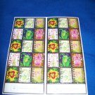 VINTAGE EASTER SEALS STICKER SHEET - FLOWER DESIGNS