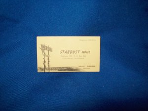 STARDUST MOTEL BUSINESS CARD- LAS BANOS, CALIFORNIA