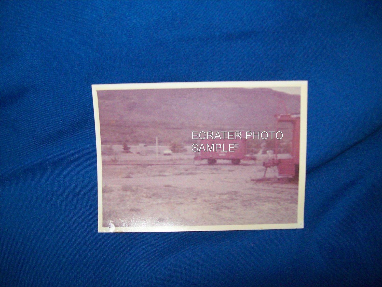 VINTAGE TRAIN CABOOSE PHOTO - COLORADO RAILROAD MUSEUM