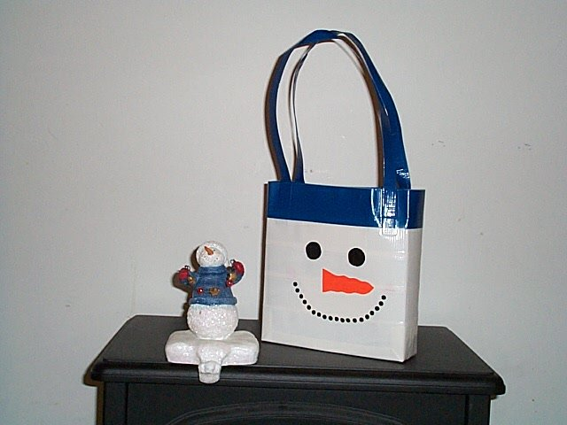 Snowman Lunch Tote