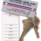 1158, Auto Key Tags, Brushed Chrome, QTY. 250