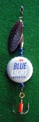 Novelty Fishing Lure - Labatt Blue Light Beer Cap Spinner