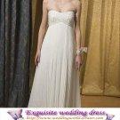 ivory white sexy Prom/Ball/Evening strapless pregnant woman' WeddingDress Custom Size  voile&satin