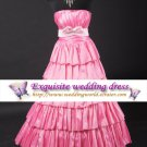 New sexy Prom/Ball/Evening Deep Pink WeddingDress Custom Size  voile&satin 1