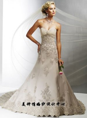 New sexy Prom/Ball/Evening strapless white WeddingDress Custom Size  voile&satin W002-8