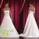 New sexy Prom/Ball/Evening strapless white WeddingDress Custom Size  voile&satin W002-58