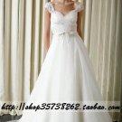 New sexy Prom/Ball/Evening white WeddingDress Custom Size  voile&satin W002-67