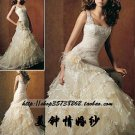 New sexy Prom/Ball/Evening white WeddingDress Custom Size  voile&satin W002-69