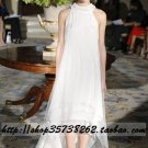 sexy Empire High-neck Sweep train Chiffon wedding dress for brides Custom Size  voile&satin W002-83