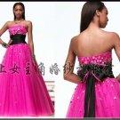 New sexy Prom/Ball/Evening strapless Pink WeddingDress Custom Size  voile&satin W003-3